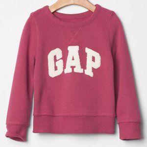 3T NWT Baby Gap rose logo pullover sweatshirt